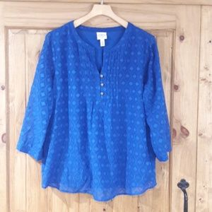 St John's Bay blue blouse